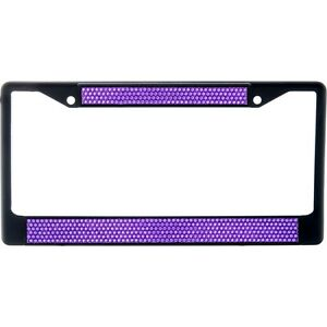 Premium Black Purple Bling Crystal Diamond License Plate Frame For Car Truck