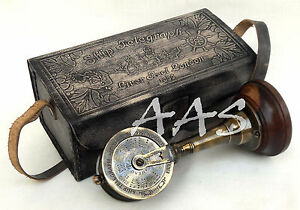 Antique Brass Telegraph 7 Collectible Ship S Engine Telegraph With Leather Case