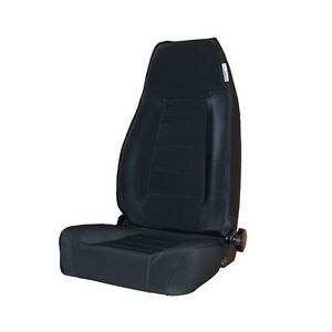 Black Mountain Jeep Cj Wrangler Yj Tj 1976 2002 Front Reclining Seat Black Denim