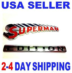 Superman Edition Emblem 3d Car Truck Willys Hummer Logo Studebaker Badge Sign