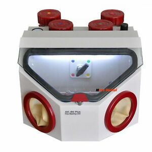 Dental Professional Fine Sand Blasting Unit Led Sand Blaster With 5 Pencil 4tank