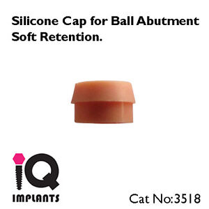 Set Of 10 Silicone Caps For Ball Abutments Soft Retention Dental Implants