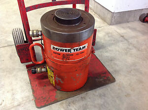 Power Team Rd2006 200 ton X 6 Stroke Double Acting Push pull Hydraulic Cylinder