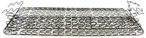 55 57 Chevy 2 Door Front Bench Lower Bottom Seat Spring Assembly Golden Star