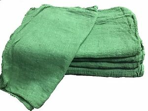 2500 Pack New Industrial Commercial Shop Rags Cleaning Towels Green 14 x14