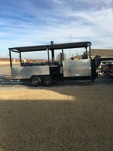Smoker Trailer Bbq Gooseneck Trailer Tailgate Concession Trailer Food Truck