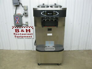 Taylor Crown C723 33 Soft Serve Twin Twist Ice Cream Machine 2012 W Ada Cart