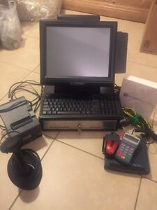 Touch Screen Retail Cash Register Point Of Sale Pos Package All In One
