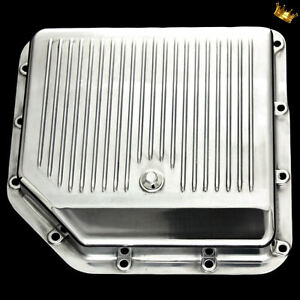 Polished Aluminum Turbo 350 Transmission Pan For Chevy Pontiac Oldsmobile Buick