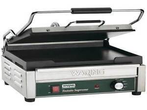 New Waring Wfg250 Tostato Supremo Large Smooth Top Bottom Panini Grill
