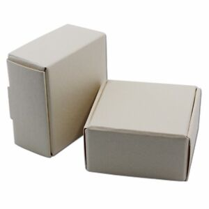 4x4x2cm Brown White Black Kraft Paper Box Wedding Gift Cardboard Moving Boxes