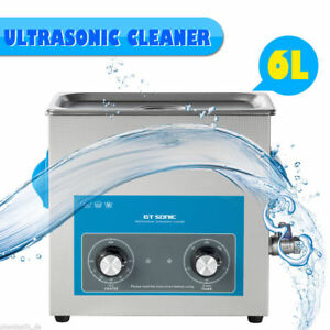 6l Stainless Ultrasonic Cleaner Ultra Sonic Bath Cleaning Tank Timer Heater 220v