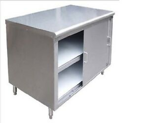 Commercial Stainless Steel Storage Dish Cabinet With Doors 14x96 Nsf