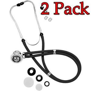 Omron Sprague Rappaport Stethoscope Black 1ct 2 Pack 073796416003s1104