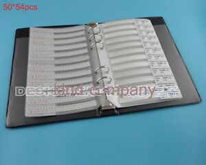 0201 Smd Smt Chip Capacitor Assortment Book Kit Sample 54values Total 2700pcs
