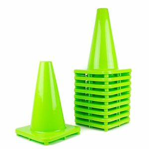 Rk Pvc Traffic Safety Cone 12 Inch Construction Safety Cones lime