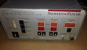 Snowden Pencer 16l Computarized High Flow Insufflator