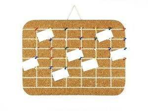 6 Week Calendar Organizer Cork Board Home Office Day Month Planner Wall Pinboard