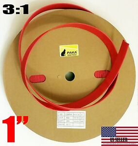30 Feet 1 Industrial Red Heat Shrink Tubing 3 1 Adhesive Glue Lined Tubes