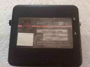 Math Associates Inc Fx 1200a 7 Audio video Xmtr Fibervision