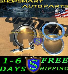 1 X 2 5 V band Flange Clamp Kit For Turbo Exhaust Downpipes