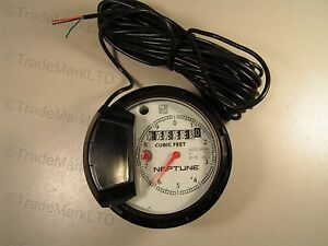 Neptune Register 4 T t For Water Meter Cubic Feet Auto H65n New