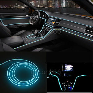 3m Ice Car Led El Wire Blue Cold Light Flexible Strip Atmosphere Decor Lamp 12v