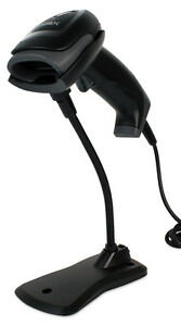 Pos x Ion Linear 2 Affordable Pos 1d barcode Scanner Usb Black With Stand New