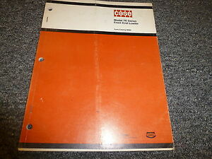 Case Model 70 Series Front End Loader Utility Tractor Part Catalog Manual B889