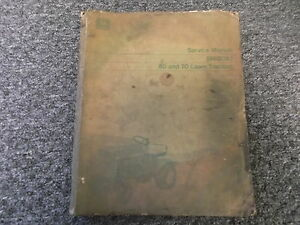 John Deere 60 70 Lawn Tractor Technical Shop Service Repair Manual Sm2092