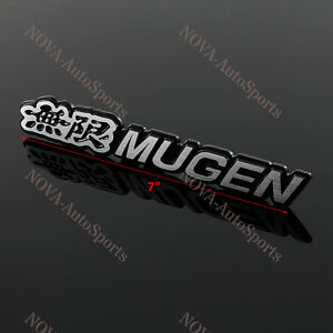 3d Car Trunk Emblem Badge Sticker Decal Mugen 7 For Honda Civic Acura 170mm