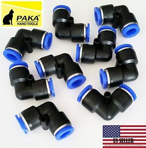 40 Pc Tube Od 8mm 5 16 Elbow Union Pneumatic Quick Connector Air Fittings Pus