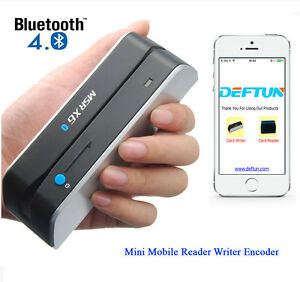 Bluetooth Mobile App Magnetic Stripe Credit Card Reader Writer Encoder Msrx6bt