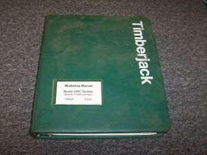 Timberjack 240c Cable Skidder Workshop Shop Service Repair Manual Book F284930
