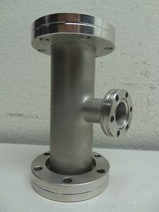 Stainless Steel 1 5 Od 3 way Tee W Rotatable Cf Flanges 2 75
