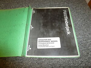 Timberjack 2618 2628 Feller Buncher Owner Operator Maintenance Manual 700884500