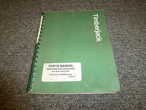 Timberjack S547 Disc Saw Felling Head Part Catalog Manual F289015