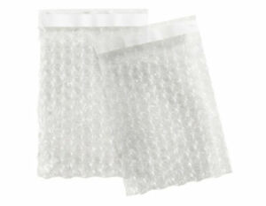 500 Case 4 x5 5 Bubble Bag Pouches Clear Self Seal Protective Cushioning