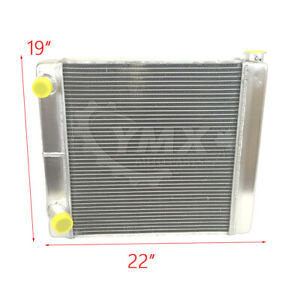 New Ford Mopar Welded Fabricated Racing Radiator 22 X19 X3 2 Row Double Pass