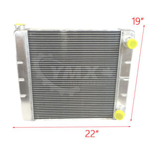 New Oe quality Chevy Gm Universal Racing Radiator 2 Row Single Pass 22 X19 X3