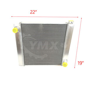 New Universal Chevy Gm 2 Row Single Pass Aluminum Radiator 22 x 19 X 3