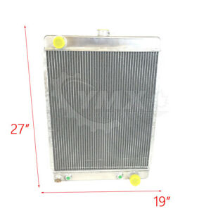 27 X 19 1 2 Racing Aluminum Universal Radiator Fits Medium Width Nose Vehicle
