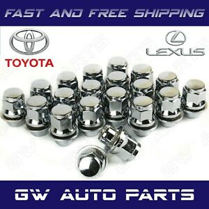 20 Pcs Toyota Lexus Oem Factory Chrome Mag Lug Nuts With Washers 12x1 5mm