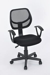 Office Task Desk Chair Adjustable Mid Back Home Children Study Chair Black New