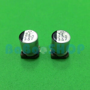20 50 100pcs 35v 150uf 8mm X 10mm E cap Smd Electrolytic Capacitor Chip
