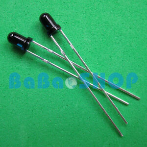 20 50 100 1000pcs 3mm 940nm Ir Infrared Receiver Diode Photodiode Led Lamp