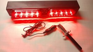 New Towaide Ta12 Wireless Tow Lights 16 Magnetic Set Wrecker rollback Red Led