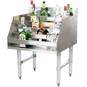 24 Five tiered Stainless Steel Restaurant Bar Liquor Display Rack 23 Deep