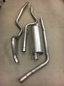1963 1966 Chevy C 10 Truck Complete Stock Single Exhaust System 230 6 Cylinder
