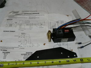 Adjustable Radiator Fan Control Module With Temp Sensor With Instructions